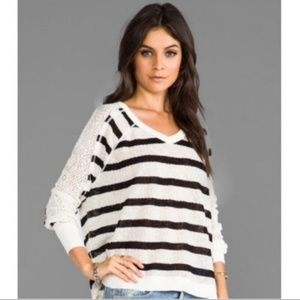 We the Free Fluffy Lou Striped Pointelle Sweater